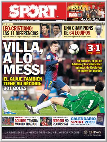 Diario SPORT 29 Noviembre 2012