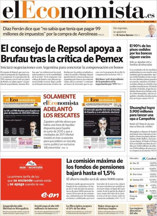 Diario ECONOMISTA 28 Noviembre 2013 [ PDF - HQ - IPAD ]   SUPLEMENTOS
