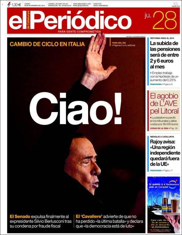 Diario El Periodico de Catalunya 28-11-2013