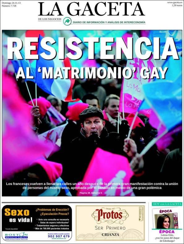 Diario LA GACETA DE LOS NEGOCIOS – 24 de Noviembre de 2013