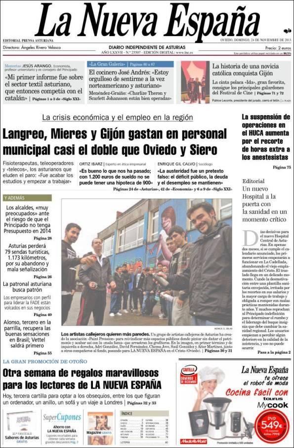 Diario LA NUEVA ESPAÑA 24 de Noviembre de 2013 Pdf