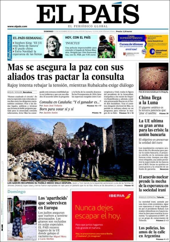 El País   Suplementos – 15 Diciembre 2013