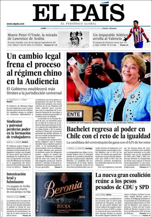 El País – 16 Diciembre 2013