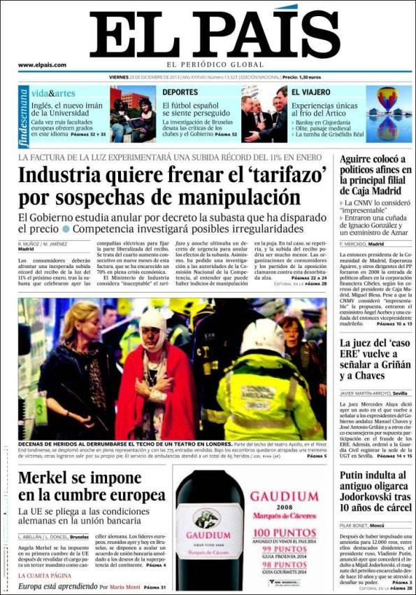 El País   Suplemento – 20 Diciembre 2013