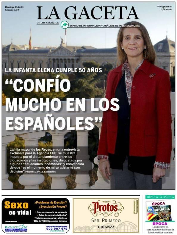 LA GACETA DE LOS NEGOCIOS – 15 de Diciembre de 2013