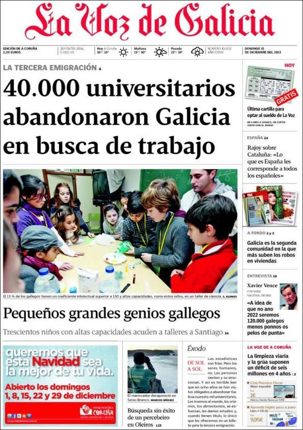La Voz de Galicia   Suplementos – 15 Diciembre 2013